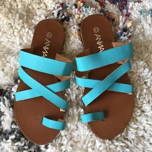 Shoes - Turquoise women's sandals size 5.5